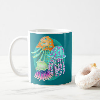 Happy Jellyfish Coffee Mug