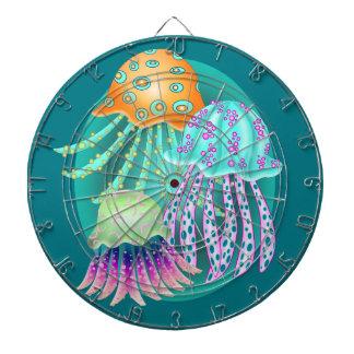 Happy Jellyfish Dartboard With Darts
