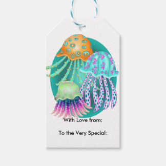 Happy Jellyfish Gift Tags