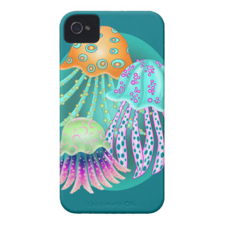 Happy Jellyfish iPhone 4 Case-Mate Cases