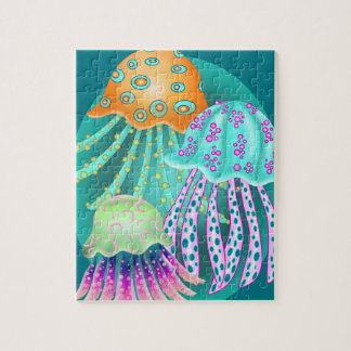 Happy Jellyfish Jigsaw Puzzle