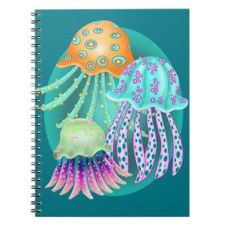 Happy Jellyfish Spiral Notebook