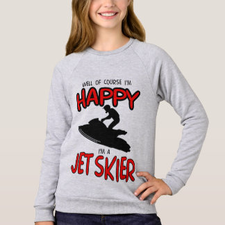 HAPPY JET SKIER (black) Sweatshirt