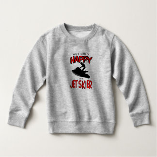 HAPPY JET SKIER (black) Sweatshirt