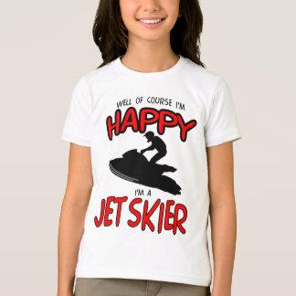 HAPPY JET SKIER (black) T-Shirt