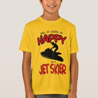 HAPPY JET SKIER (black) T-Shirt