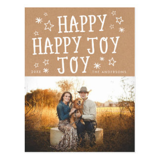 Happy Joy Holiday Christmas Photo Postcard