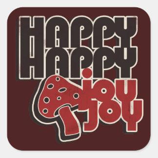 Happy Joy Square Sticker