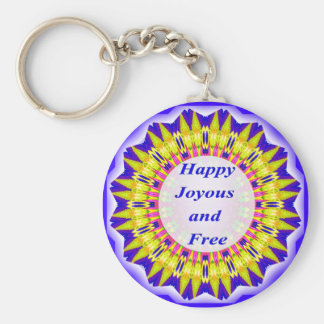 Happy Joyous and Free Keychain