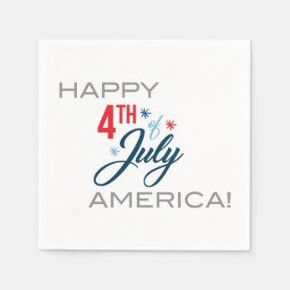 Happy July 4th Napkins! Disposable Napkin
