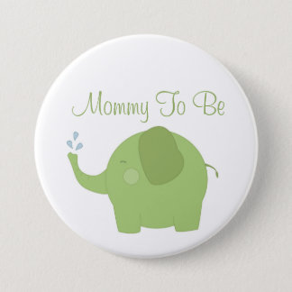 Happy Jungle Baby Shower Mommy To Be Button