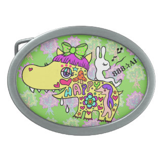 Happy Kaba-chan (Y) 1 Belt Buckle