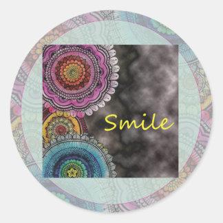 Happy Karma Round Sticker