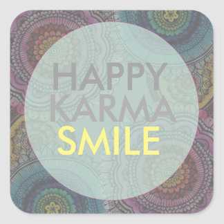 Happy Karma Square Sticker