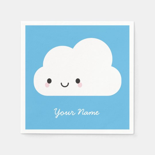 Happy Kawaii Cloud Disposable Napkin