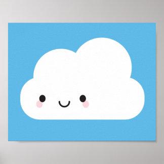 Happy Kawaii Cloud Poster
