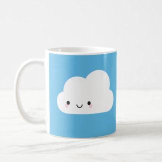 Happy Kawaii Cloud & Sad Rain Cloud Coffee Mug