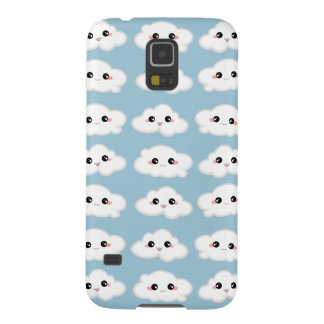 Happy Kawaii Cute and Smiling Clouds Case For Galaxy S5