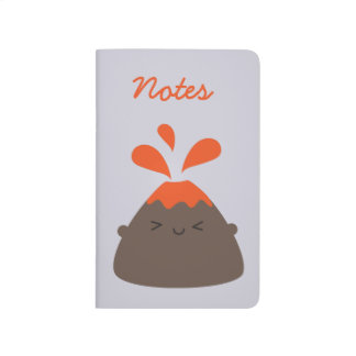 Happy Kawaii Volcano Journal