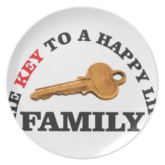 happy key family plate