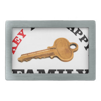 happy key family rectangular belt buckle