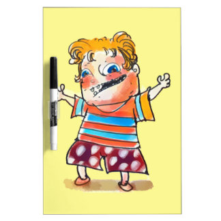 happy kid cartoon style illustration Dry-Erase board