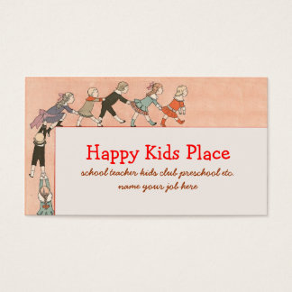 happy kids business card