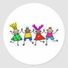 Happy Kids Classic Round Sticker