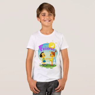 Happy kids friends, girl and boy T-Shirt