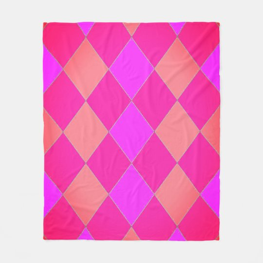 Happy-Kids-Harlequin_M_Rose-Melon(c)Fleece_Blanket Fleece Blanket