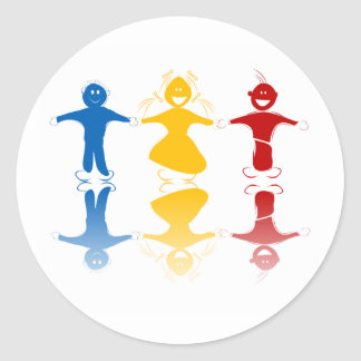 Happy Kids Silhouettes Stickers