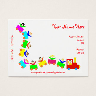 Happy Kids Train Business Card