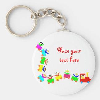 Happy Kids Train Keychain