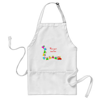 Happy Kids Train Standard Apron