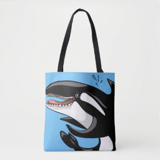 Happy Killer Whale Tote Bag