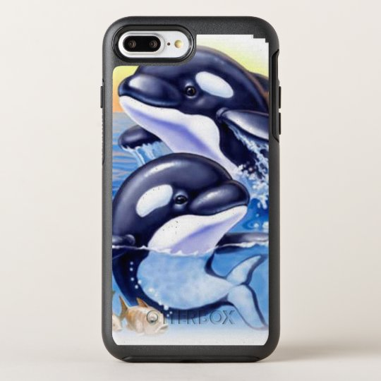 Happy Killer Whales OtterBox Symmetry iPhone 7 Plus Case