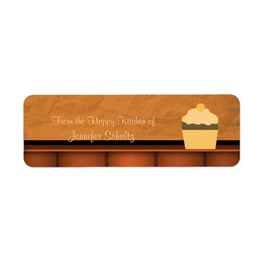 Happy Kitchen Cupcake Custom Personalized Return Address Label