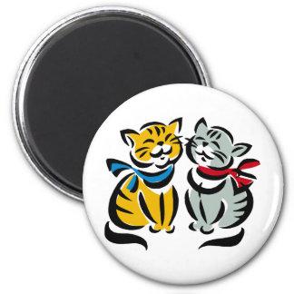 Happy Kittens Magnet