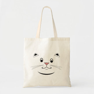 Happy Kitty Cat Face Tote Bags