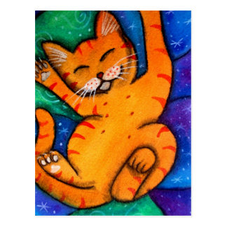 Happy Kitty Cat Postcard