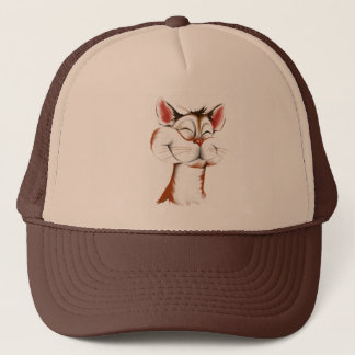Happy Kitty Face Hat