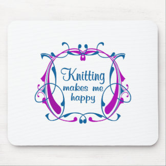 Happy Knitting Mouse Pad