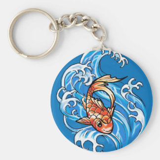 Happy Koi Fish keychain