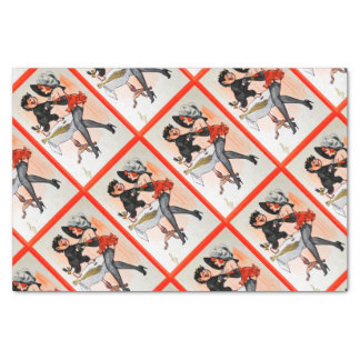 "Happy Krampus with Temptress Vintage Christmas 10"" X 15"" Tissue Paper"