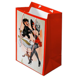 Happy Krampus with Temptress Vintage Christmas Medium Gift Bag