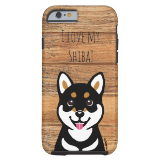 Happy Kuro Shiba Inu dog iPhone Case