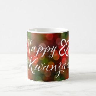 Happy Kwanzaa Bokeh Umoja Lights Basic White Mug