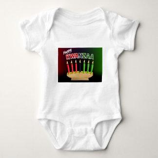 Happy Kwanzaa Candles Design Baby Bodysuit