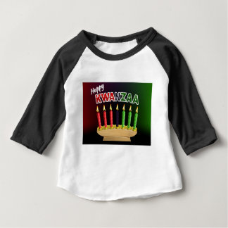 Happy Kwanzaa Candles Design Baby T-Shirt