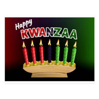 Happy Kwanzaa Candles Design Postcard